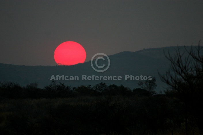 Red Sun at Sunset
