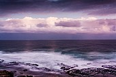 Dramatic Seascape with Moody Sky